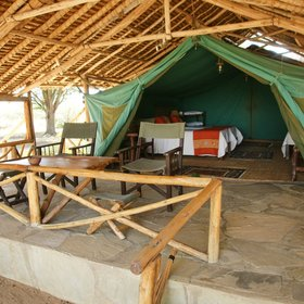 The standard tents are spacious and welcoming…