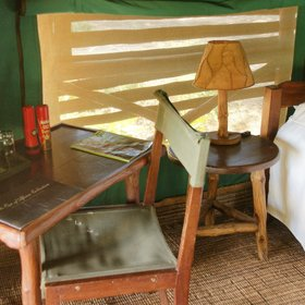 …in traditional, safari camp style…