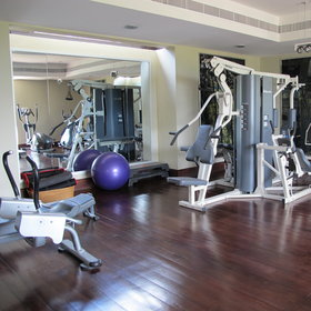 Guests can work out in the lodge's gym between safari activities...