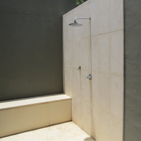 The Terrace Suites and Villas also have outdoor showers.