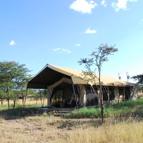 Naboisho's tents are new and widely spaced…