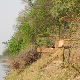 Each has a private deck overlooking the Luangwa River.