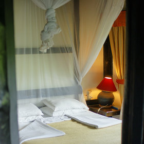 …and more comforts, including better mosquito nets (fortunately there are few mosquitoes here).