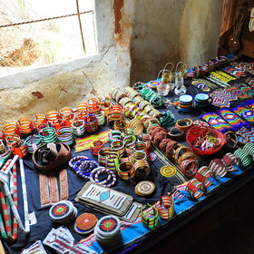 The lodge also works with local communities to produce beaded crafts which guests can purchase.