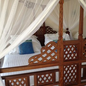 Diani Blue's rooms are modestly sized…