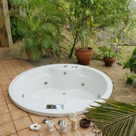 …you reach Orchid Tree's private spa pool.