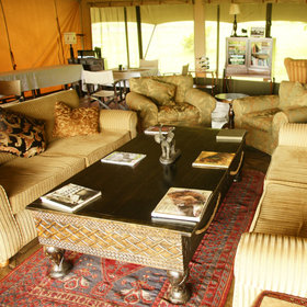 The central part of the camp has a comfortable, traditionally styled lounge tent…