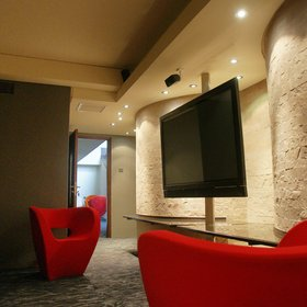 Among a wide range of facilities, there's a TV and audio room…