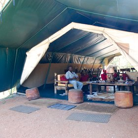The main lounge/dining tent…
