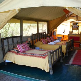The tents themselves are traditionally styled and reasonably spacious, but not huge.