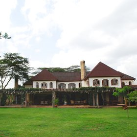 It dominates a very large plot, with a gravel access road, in Nairobi's leafy suburb of Langata.