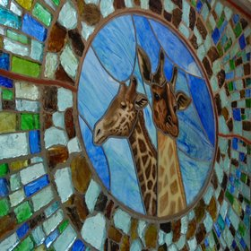 …and a stunning Kitengela glass window.