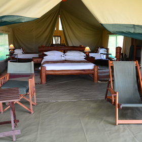 Each tent is well-spaced and stylishly designed.