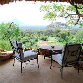 Each of the rooms has a small veranda looking out over the bush...
