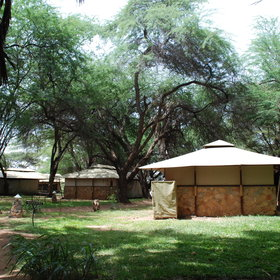 There are 20 tented rooms at Larsen's Camp.