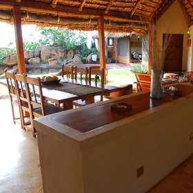 ... and the dining area, are a great place for families to get away from it all.