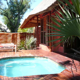 The Casitas at Benguerra Lodge all have their own plunge pools...