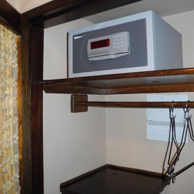 ...and plenty of storage space including an electronic safe for added security