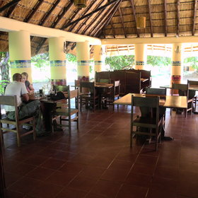 The restaurant serves meals throughout the day, both indoors…