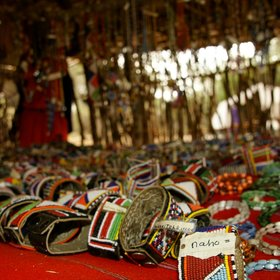 …selling the output of the local Maasai community's craftsmen and women…