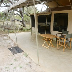The guest tents at Porini Amboseli are large and comfortable…