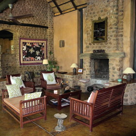 … an indoor lounge in colonial style…