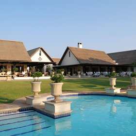 Royal Livingstone Hotel is located close to the Victoria Falls.