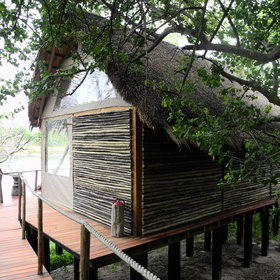 All chalets are built on stilts…