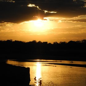... after watching the sunset over the Luangwa River.