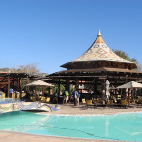 There are plenty of places to eat at the Zambezi Sun...