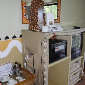 ... and complete with tv, safe and tea and coffee making facilities.