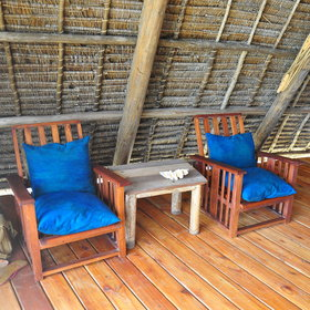 … and some seats which you can turn towards the sea for enjoying the breeze.