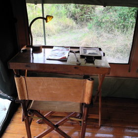... and a writing desk and chair.