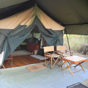 Outside each tent is a table and chairs from which to relax and enjoy the view.