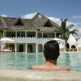 Msambweni Beach House has one of the biggest infinity pools on the Kenyan coast.