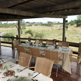 There's also an alfresco dining area at eye-level with the elephants that come down to drink.