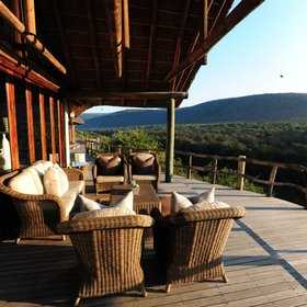 ...and enjoy great views over the lodge's surroundings.