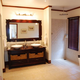 ...double basin and large walk-in rain shower.