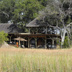 Xudum Delta Lodge is set on an island in Botswana's beautiful Okavango Delta...