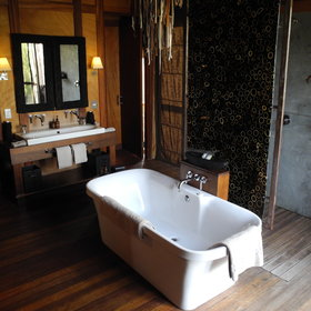 ...and a spacious en-suite bathroom with a bath, shower and separate toilet...