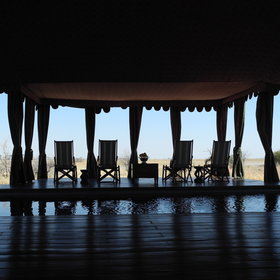 ....surrounded by loungers and overlooking the desert vistas.