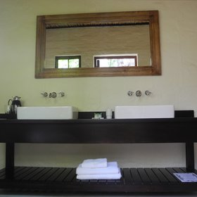 …two hand wash basins…