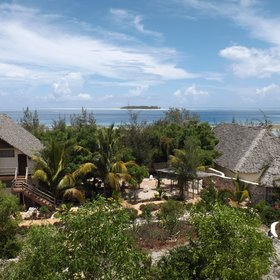 Sunshine Marine Lodge has magnificent views of Mnemba Island.