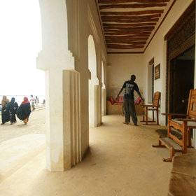 Lamu House is nicely integrated into the life of the town.