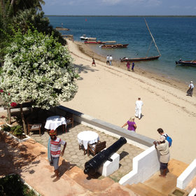 Peponi is in the heart of Shela village, but is only a short dhow ride from Lamu town.