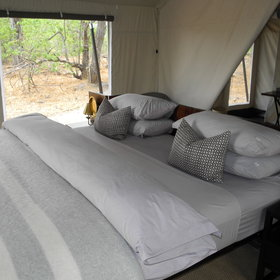... and is equipped with a double or twin bed.