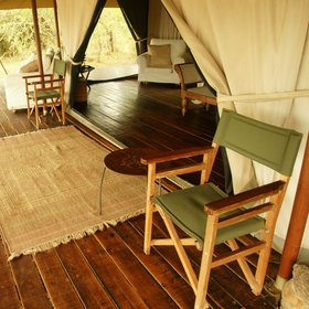 The four guest tents are mounted on beautiful hard wood floors…