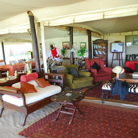 The main central parts of Cottar's are dominated by the large mess and lounge tent…