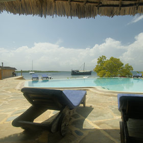 Manda Bay has a very nice pool area…