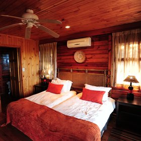 Each chalet at the Main Lodge in South Africa's Kariega Reserve has two bedrooms...